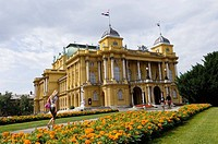 Croatian National Theatre in Marshall Tito Square, Zagreb, Croatia