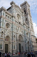 Low angle view of a cathedral, Duomo Santa Maria Del Fiore, Florence, Italy