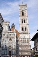 Low angle view of a bell tower, Duomo Santa Maria del Fiore, Florence, Italy
