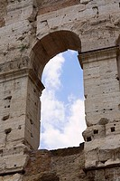 Low angle view of a triumphal arch, Rome, Italy