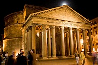 Group of people in front of a pantheon, Pantheon Rome, Rome, Italy