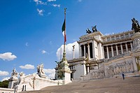 Low angle view of a monument, Vittorio Emanuele Monument, Piazza Venezia, Rome, Italy