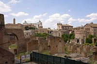 Old ruins of buildings, Roman Forum, Rome, Italy
