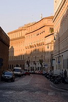 Buildings along a road, Rome, Italy