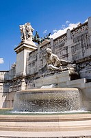 Fountain in front of a monument, Vittorio Emanuele Monument, Piazza Venezia, Rome, Italy