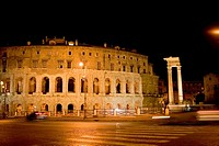 Facade of an amphitheater, Coliseum, Rome, Italy