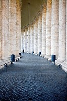 Columns along a corridor of a building, Rome, Italy