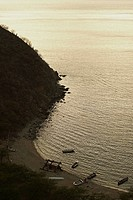 High angle view of a beach, Taganga Bay, Magdalena, Colombia