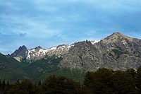 Clouds over a mountain range, San Carlos De Bariloche, Argentina