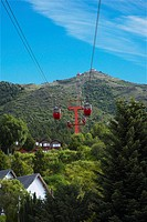 Low angle view of an overhead cable car, Cerro Otto, San Carlos De Bariloche, Argentina