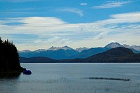 Lake in front of mountains, Lake Nahuel Huapi, San Carlos De Bariloche, Argentina