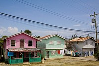 Houses in row, Honduras