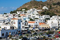 Buildings in a city, Patmos, Dodecanese Islands, Greece