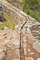 High angle view of an old canal, Choquequirao, Inca, Cusco Region, Peru