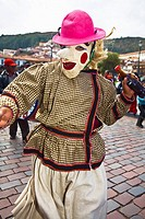 Person wearing a traditional costume in a festival, Peru