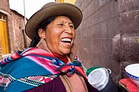 Close-up of a mid adult woman laughing, Peru