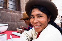 Portrait of a mid adult woman smiling, Peru