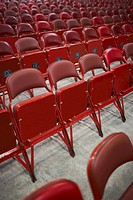 Empty chairs in an auditorium