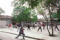 People doing Morning Exercise in Cuihu Park, Kunming City, Yunnan Province, People´s Republic of China, FOR EDITORIAL USE ONLY
