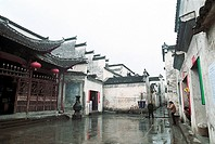 Anhui_style residences in Xidi Village, Yixian County, Anhui Province, People´s Republic of China, FOR EDITORIAL USE ONLY