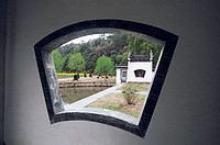 View through a window, Likeng Village, Wuyuan County, Jiangxi Province of People's Republic of China, FOR EDITORIAL USE ONLY