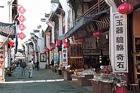Stores in Old Street of Tunxi, Yixian County, Anhui Province, People's Republic of China, FOR EDITORIAL USE ONLY