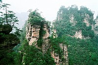 Shizhai scenery of the Zhangjiajie, Zhangjiajie City, Hunan Province of People's Republic of China