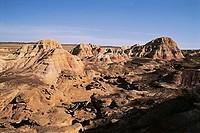 Yadon landform of Wucai Bay, Jimusaer County, Xinjiang Uygur Autonomous Region of People´s Republic of China