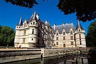 Azay-le-Rideau Castle (1518-29). Indre-et-Loire, France