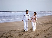 Senior Couple Walking on a Beach