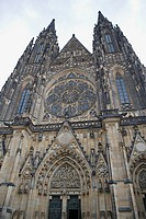 Czech Republic, Prague, St Vitus Cathedral, low angle view