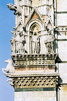 Italy, Tuscany, Siena, Cathedral, extreme close up