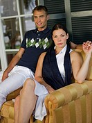 Portrait of couple on veranda