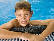 Happy boy in pool
