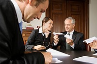 Businesspeople making paper airplanes (thumbnail)