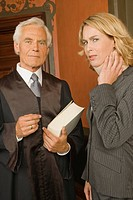 Portrait of a lawyer standing with a businesswoman