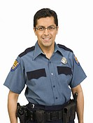 Portrait of male police officer