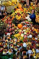La Boquería market, Barcelona. Catalonia, Spain.
