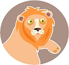 Illustration of a lion (thumbnail)