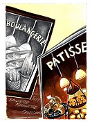 An illustration of posters featuring patisserie