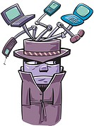 Illustration of a Gadget man