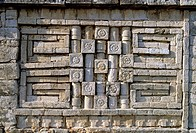 Detail of 'La Iglesia' temple, Mayan ruins of Chichen Itza. Yucatan, Mexico