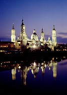 Basilica of Nuestra Se&#241;ora del Pilar, Zaragoza. Aragon, Spain