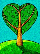 An illustration of a heart shaped tree