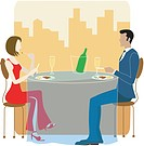 Man and Woman dining together (thumbnail)