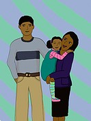 An illustration of a happy family (thumbnail)