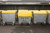 Graffiti on wheelie bins