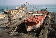 Ship repair yard. Bahrain