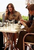 Two women at a meeting at a cafe table