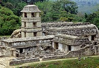 Palenque Maya archaeological site. Chiapas, Mexico